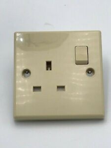 Caravan / Motorhome - Powerpart - Beige -240 Volt -13 Amp -Single Socket - PO128