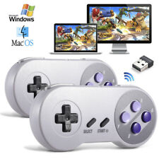 2X Wireless PC Game Controller USB SNES Joystick for Windows 10 PC Gaming Laptop