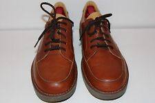NWOB ENGINEERED BY ROCKPORT 5 EYE BROWN LEATHER OXFORDS MEN'S SHOES SIZE 10M
