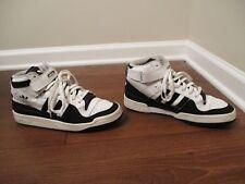 Used Worn Size 10 Adidas Forum Mid Shoes White Black