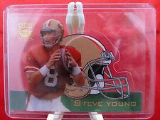 1995 Playoff Steve Young Helmet Die-Cut Absolute Football Card HDC #16 HOF 49ers