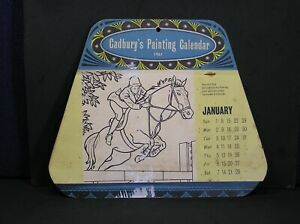 CADBURYS Painting Calendar 1961 One painting to do each month (unused)
