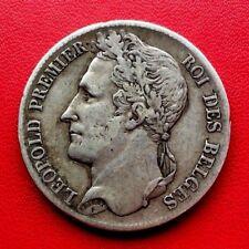 MONNAIE ANCIENNE ARGENT 5F ECU DE LEOPOLD PREMIER ROI DES BELGES 1835