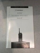 Motorola Manual for GTX Trunked Portable