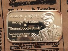 """James Cagney in """"Yankee Doodle Dandy"""" Mintage 175 999 SILVER ART BAR TRG-3 Rare"""