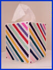 BLUE GREEN YELLOW RED NURSERY HANDMADE PLASTIC CANVAS TISSUE BOX COVER TOPPER
