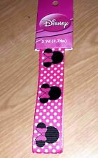 """1"""" Disney Minnie Mouse Heads Pink/White Grosgrain Ribbon - 3yds"""