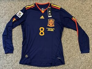 XAVI Spain ADIDAS L LARGE Soccer 2010 World Cup Jersey NEW Long Sleeve NWT