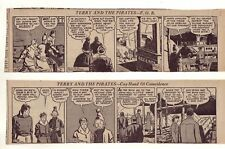 Terry and the Pirates by Milton Caniff, 26 large comic strips Complete June 1937
