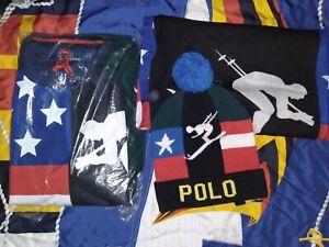 Polo ralph lauren suicide ski Sweatshirt,  Hat & Scarf  Bundle Size L