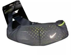 Nike Double Flask Running Belt, Gray/Green