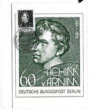 Berlin 637 MAXI CARD ACHIM VON ARNIM DICHTER LITERATUR MAXIMUM KARTE