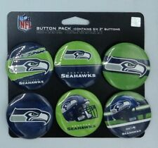 NFL Seattle Seahawks Wincraft 6 Pack 2 Inch Round Button Sheet NEW!