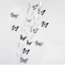 18 Stück 3D Schmetterlinge Aufkleber Sticker Wandbild Deko Wandtattoo Glitzer