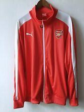 PUMA Arsenal FC The Gunners London Track Football Full Zip Jacket Top size XXL