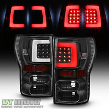 Black [Bright Light Tube] 2007-2013 Toyota Tundra LED Tail Lights Brake Lamps