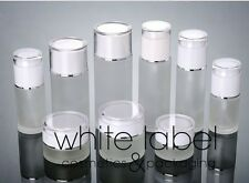 80ML FROSTED GLASS LOTION COSMETIC PUMP BOTTLES WHOLESALE- NEW 50PCS/LOT