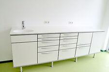 """Behandlungszeile / Arbeitszeile  """"MODERN"""" 5 x Schränken und Corian-Tischplatte"""
