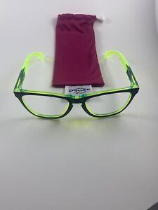 Oakley Frogskins Translucent Retina Burn Black Yellow Frame Only+Soft Bag NEW