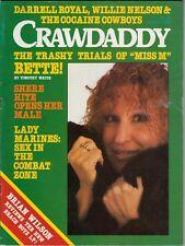 Crawdaddy Magazine May 1977 Bette Middler Brian Wilson Willie Nelson Darrell Roy