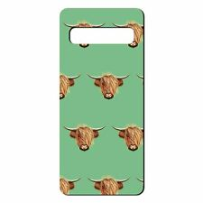 For Samsung Galaxy S10 PLUS Silicone Case Highland Cow Pattern - S5446