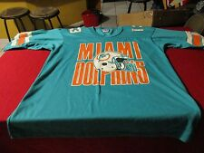 MIAMI DOLPHINS VINTAGE 80'S JERSEY STYLE SHIRT SIZE XL NFL