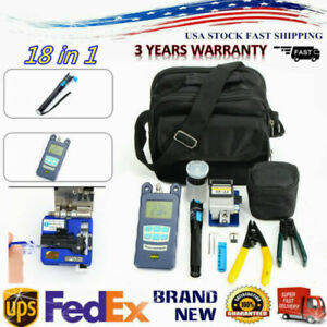 Fiber Optic FTTH Tool Kit with FC-6S Cutter Cleaver Optical Power Meter Visual