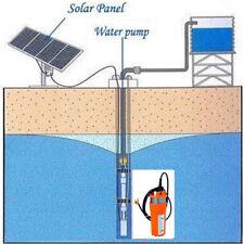 12V Solar Submersible Deep Well DC Water Bore Pump for Farm/Garden,Solar Battery