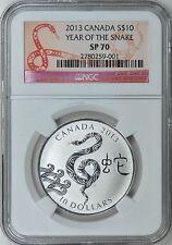 Canada 2013 S$10 Silver Snake NGC SP-70 NGC SP-70 Bullion Coin