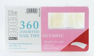 The Edge 360 assorted OLYMPIC Natural Square False Nail Tip Deep Full Well