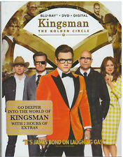 KINGSMAN GOLDEN CIRCLE (Blu-ray/DVD, 2017, Digital Copy) NEW WITH SLEEVE