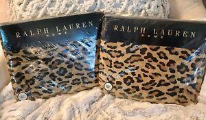 RALPH LAUREN HOME ARAGON LEOPARD TWIN FLAT & FITTED SHEET