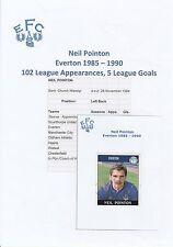 Neil Pointon Everton 1985-1990 original hand signed PANINI autocollant (occasion)