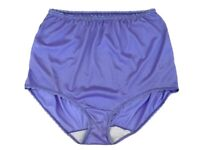Vtg Ashley Taylor Nylon Panties Silky Lavender Purple Feminine Granny Sz 7 L