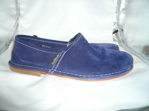 Russell And Bromley Blue Suede Loafers, EU 44/UK 10