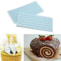 Wooden Grain Wall Brick Cake Fondant Mold Embosser Cutter Mould Baking Tool KV