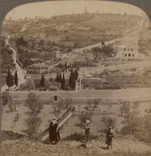 Palestine. Jardin De Gethsemane & Mount Olives Jérusalem Underwood Stéréogramme