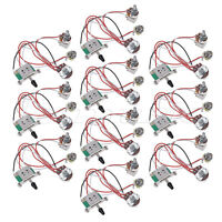 Electric Guitar Wiring Harness Prewired Kit 3 Way Toggle Switch 1V1T 500K 10 Pcs