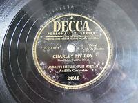"Andrews Sisters Decca 24812 Charley My Boy Wore Yellow Ribbon 78rpm 10"" 198-4NG"