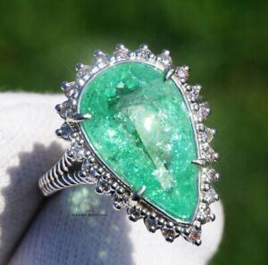 Paraiba Tourmaline Ring Gold Diamond Natural 7.28CTW GIA Certified RETAIL $14600