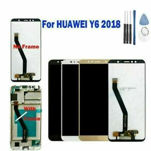 LCD Display Touch Screen Digitizer Assembly Repair W/N Frame for HUAWEI Y6 2018