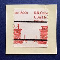MISPERF ERROR 1984 US STAMP MICHEL #1679xV 1890'S RR TRAIN CABOOSE PRECANCEL