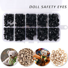 150X Plastic Safety Eyes Toys Teddy Bear Doll Animal DIY Making Screw 6-12mm