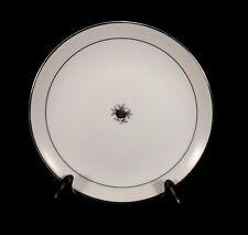 "Fukagawa Arita China 6"" Bread Plate-Taupe Band Black Rose Platinum-6 Available"