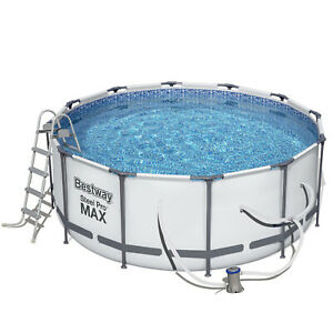 12ft Bestway Steel Pro Max Above Ground Frame Swimming Pool 366x122cm 56421