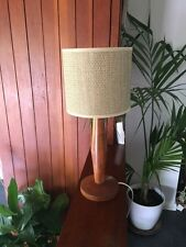 Vintage 1960s Danish Teak Lamp Base in Full Working Order