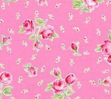 Cottage Shabby Chic Lecien Flower Sugar Bouquets & Buds Pink Cotton Fabric BTY
