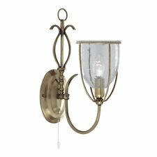 Searchlight 1 Light Antique Brass Wall Bracket Complete With Glass 6351-1ab