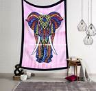 Indian Tapestry Wall Hanging Hippie Elephant Mandala Bedspread Beach Ethnic Art