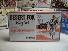 MARX BATTLEGROUND PLAY SET BOX REDO DESERT FOX 4178MO WORLD WAR II SET